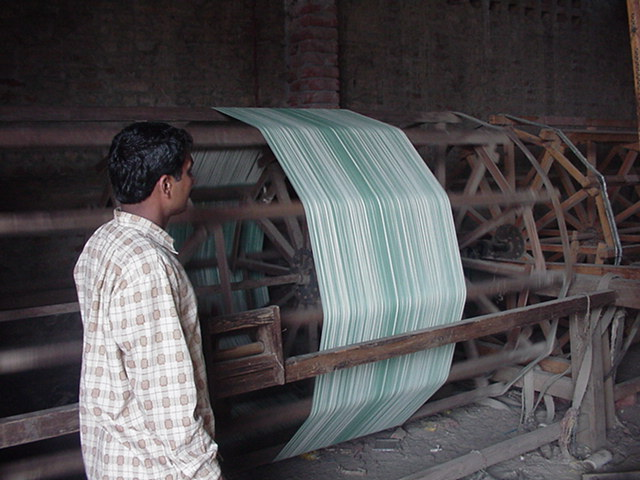 MAKING WARP FOR JACQUARD AND FRAME HANDLOOMS